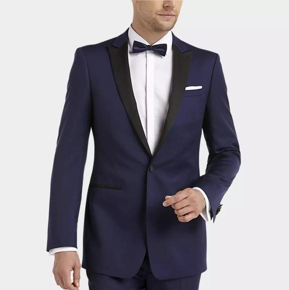 ef9b6dd587 Calvin Klein Suits & Blazers | Blue Slim Fit Tuxedo | Poshmark